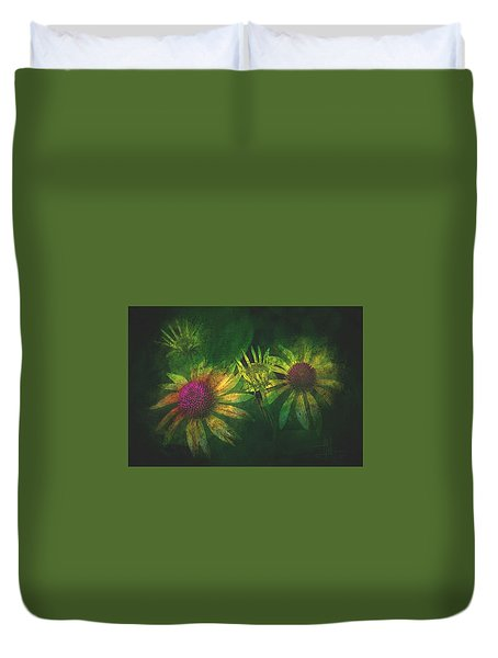 Duvet Cover featuring the photograph Garden Flowers 2 June 14 2015 by Jim Vance