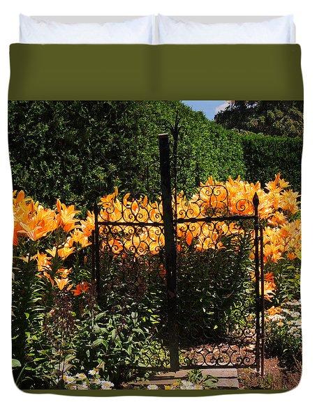 Garden Gate Duvet Cover by Teresa Schomig
