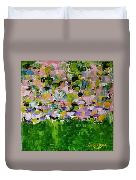 Duvet Cover featuring the painting Garden Glory by Judith Rhue