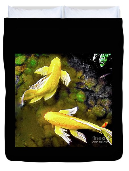 Garden Goldenfish Duvet Cover
