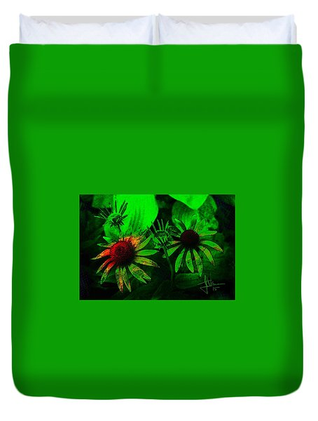 Duvet Cover featuring the photograph Garden Green by Jim Vance