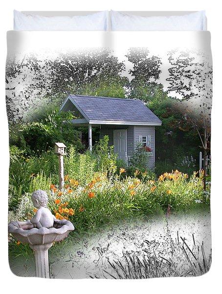 Garden House Duvet Cover