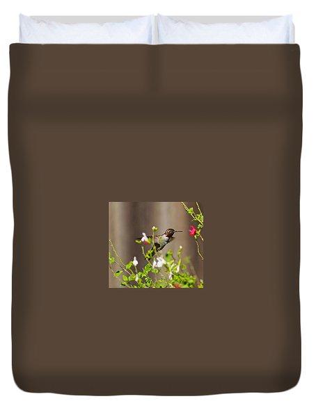 Garden Hummingbird Duvet Cover