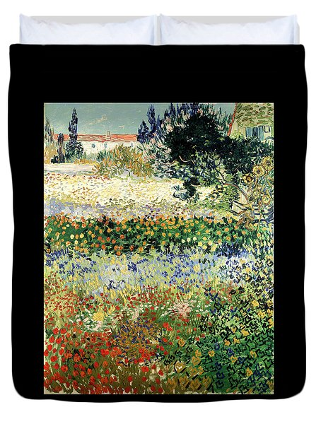 Duvet Cover featuring the painting Garden In Bloom by Van Gogh