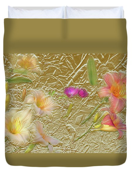 Garden In Gold Leaf2 Duvet Cover