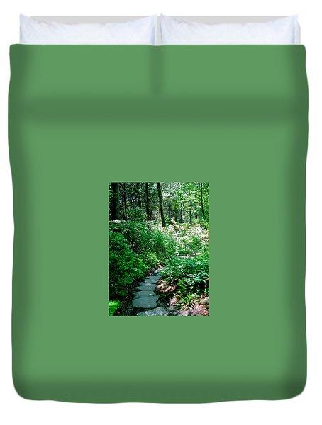 Garden In The Woods Duvet Cover by Deborah Dendler