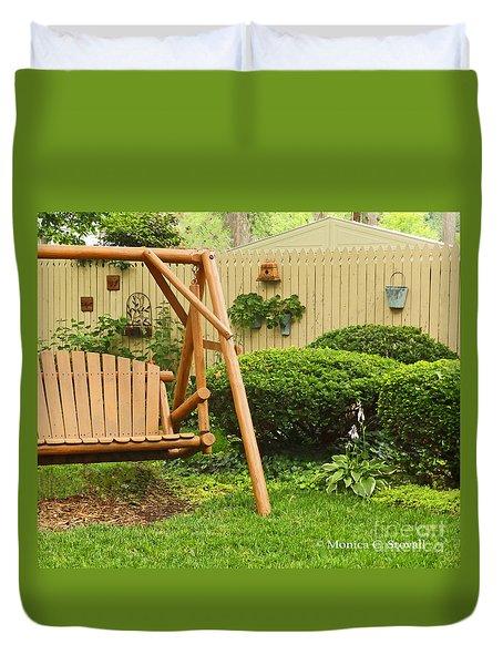 Garden Landscape No. B13 Duvet Cover