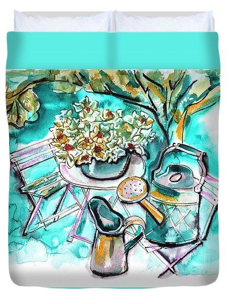 Garden Life Illustration Duvet Cover