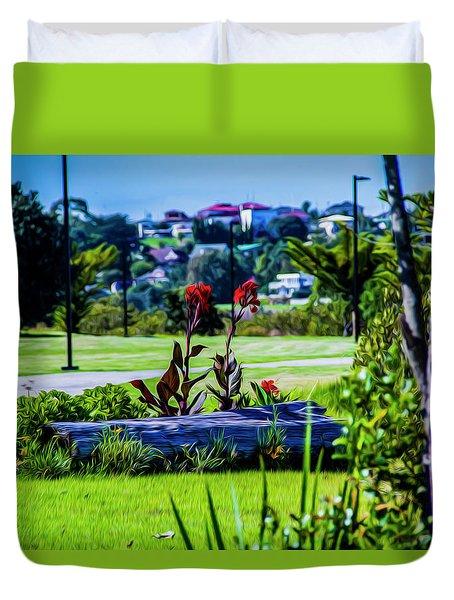 Garden Log Duvet Cover