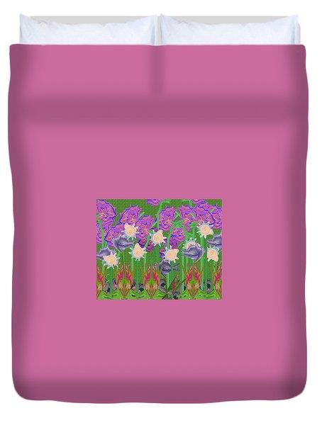 Garden Duvet Cover by Lori Kingston