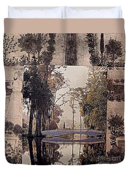 Garden Meditation Duvet Cover