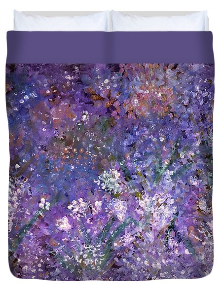 Garden Of Eden Painting Duvet Cover by Don  Wright