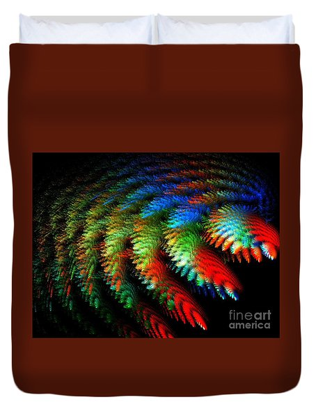 Duvet Cover featuring the digital art Garden Of Miracles by Michal Dunaj