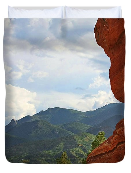 Garden Of The Gods - Colorado Springs Duvet Cover by Christine Till