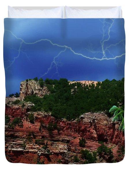 Duvet Cover featuring the digital art Garden Of The Gods by Chris Flees