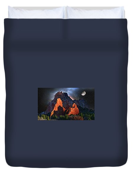Garden Of The Gods Fantasy Art Duvet Cover by John Hoffman