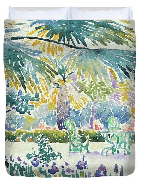 Garden Of The Painter At Saint Clair, 1908  Duvet Cover