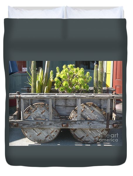 Garden On Wheels Duvet Cover