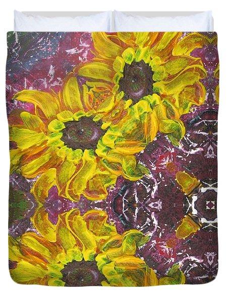 Garden Owls Duvet Cover by Maria Watt