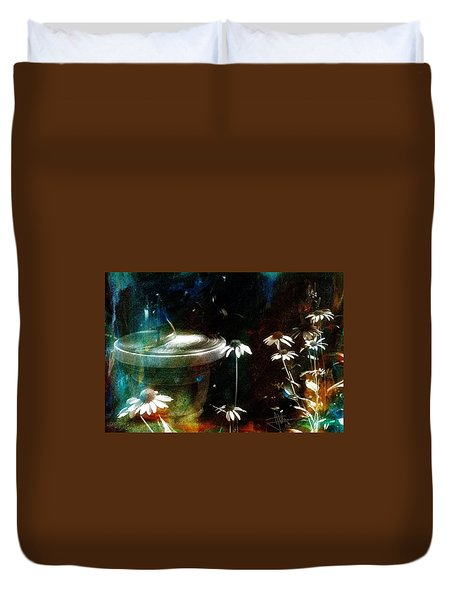 Duvet Cover featuring the photograph Garden Party by Jim Vance