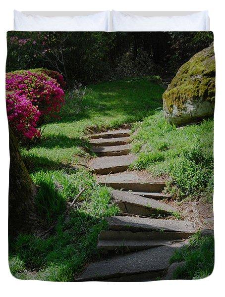 Garden Path Duvet Cover by Linda Mesibov