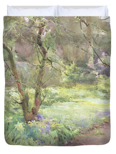 Garden Path Duvet Cover by Mildred Anne Butler