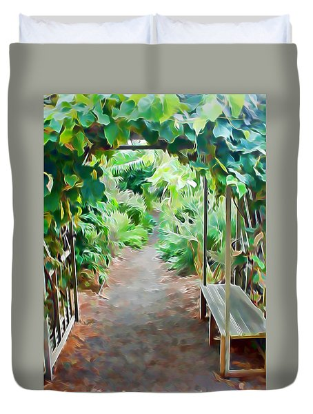Garden Path Duvet Cover by Pamela Walton