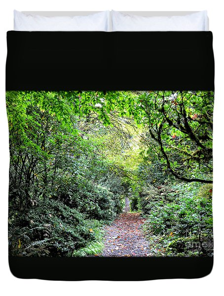 Duvet Cover featuring the photograph Garden Path by Tanya Searcy