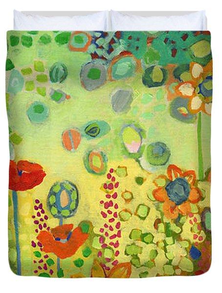 Garden Poetry Duvet Cover
