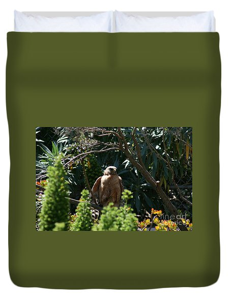 Duvet Cover featuring the photograph Garden Rest by Cynthia Marcopulos