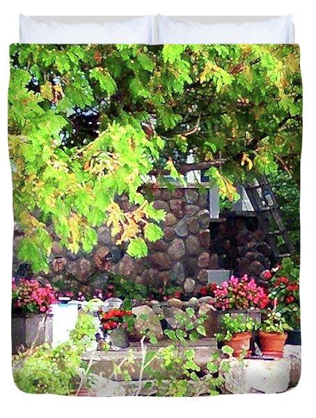 Garden Terrace Duvet Cover by Desiree Paquette