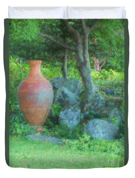 Garden Urn Duvet Cover