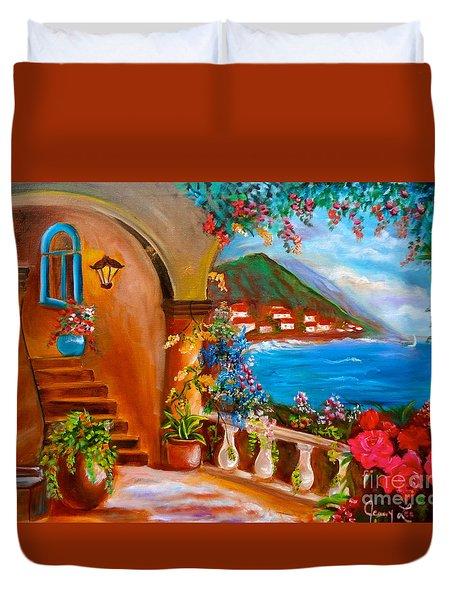 Garden Veranda 1 Duvet Cover by Jenny Lee