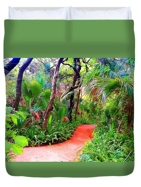 Garden Walk Duvet Cover