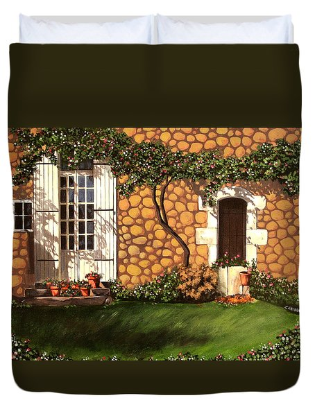 Garden Wall Duvet Cover