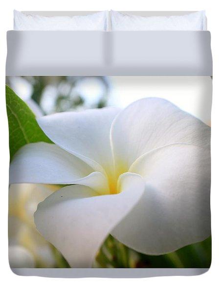 Garden White Duvet Cover