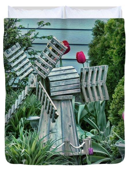 Garden Windmill Duvet Cover