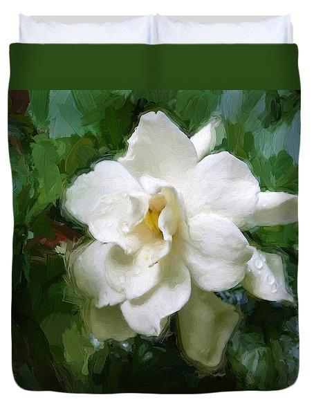 Gardenia Blossom Duvet Cover