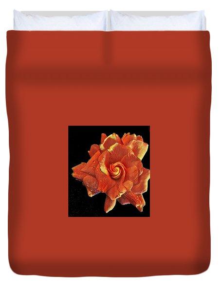 Gardenia For Madam Pele Duvet Cover