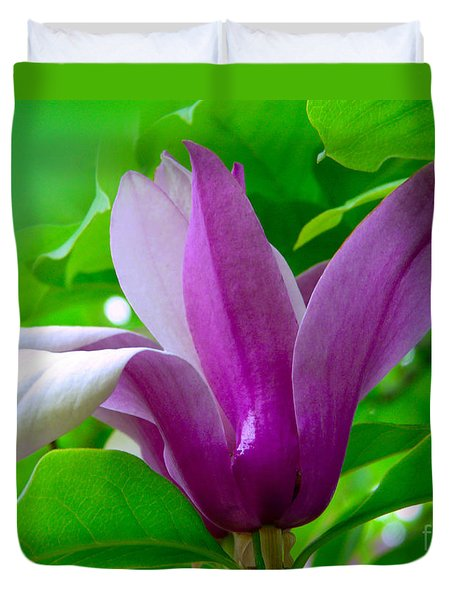 Duvet Cover featuring the photograph Gardenia by Jasna Dragun