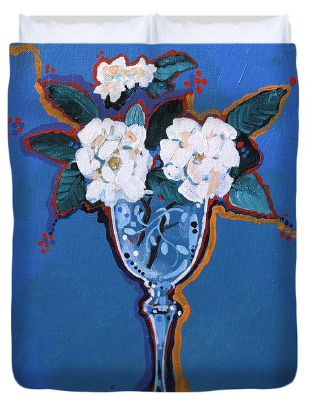 Gardenias Duvet Cover