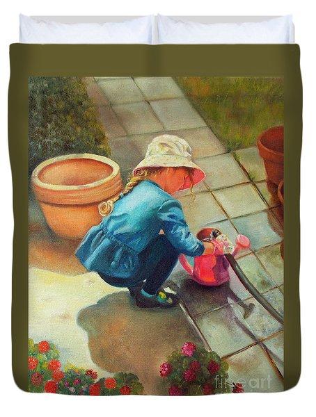Gardening Duvet Cover