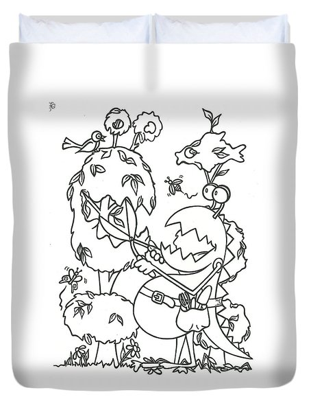 Gardening Monster Duvet Cover