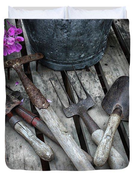 Gardening Tools Duvet Cover