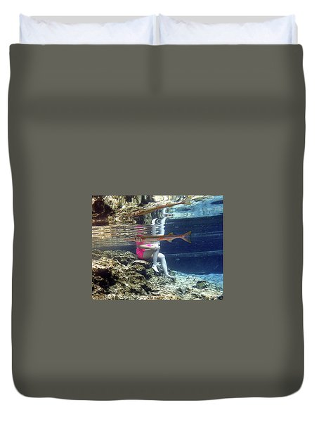 Garfish Duvet Cover
