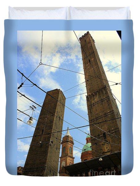 Garisenda And Asinelli Towers Duvet Cover