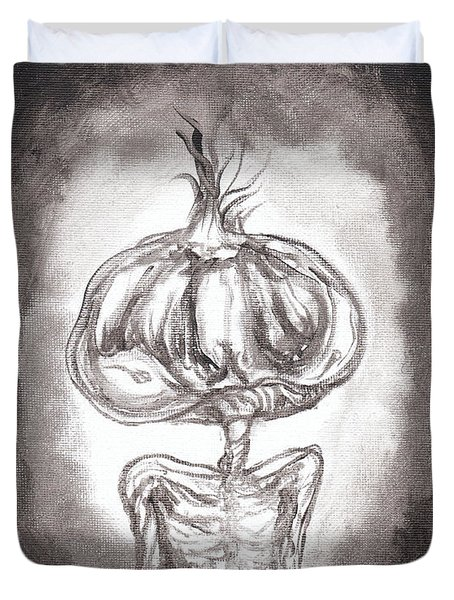 Garlic Boy Duvet Cover
