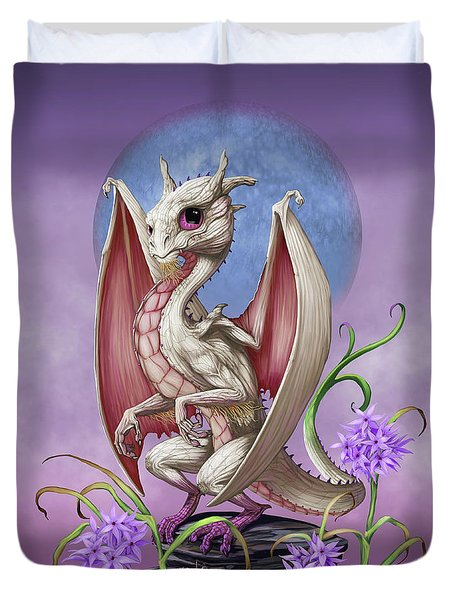Duvet Cover featuring the digital art Garlic Dragon by Stanley Morrison