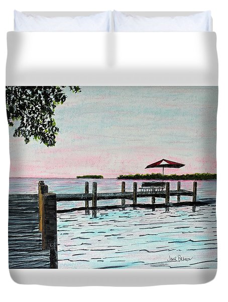 Garlic Island On Lake Winnebago Duvet Cover