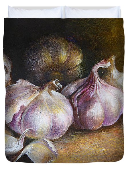 Garlic Painting Duvet Cover